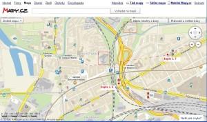 A odpovídající lokace dnes podle mapy.cz (kaple č. 6 a 7)