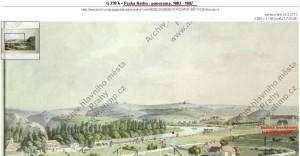 Panoráma Praha - Karlín (1803 - 07)