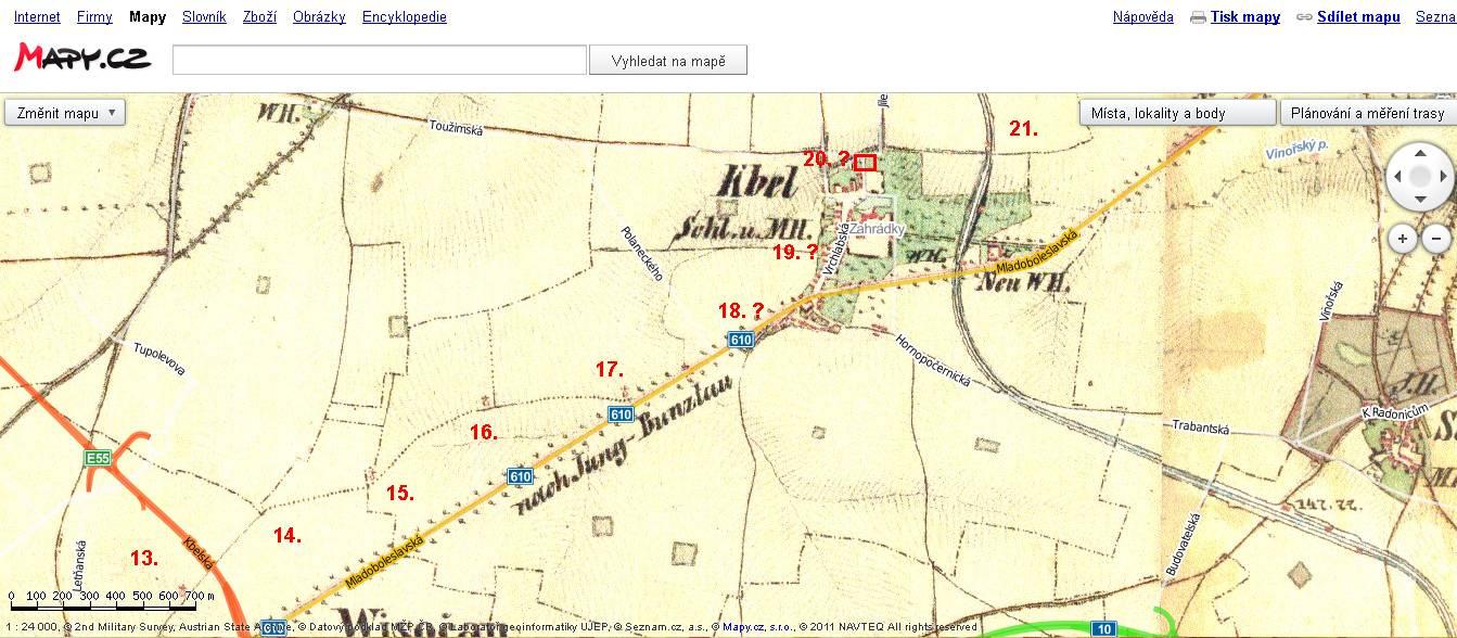 kaple_Kbely historická mapa - 13 až 18_číslování