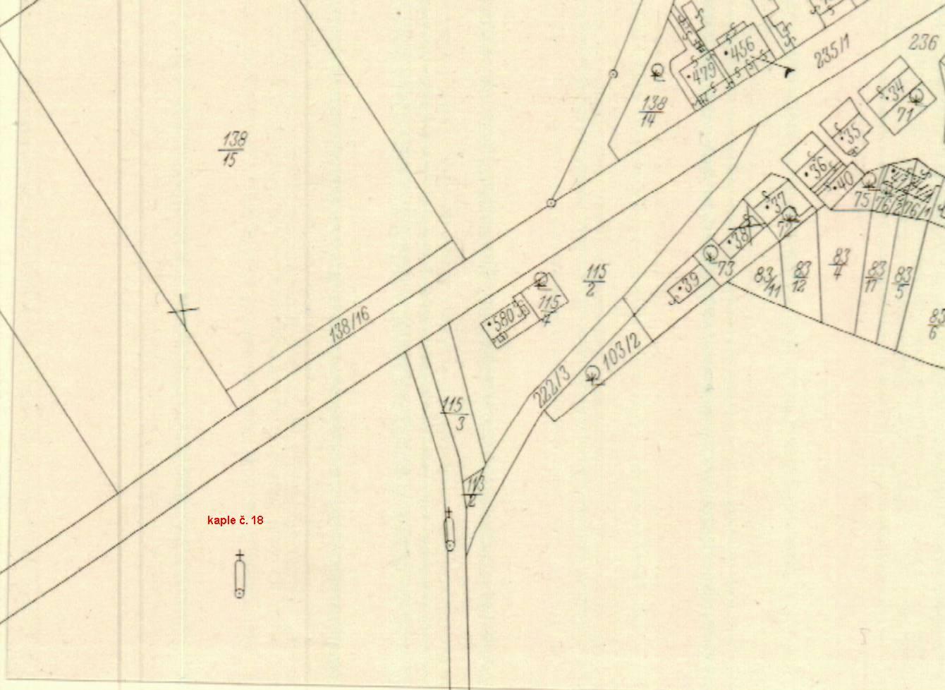 výpis_katastrální mapa_1943_kaple č 18_k